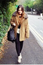 black asos bag - beige clog new look boots - mustard TK Maxx jacket