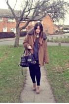 camel TK Maxx coat - white collar H&M shirt - black TK Maxx bag - camel asos wed