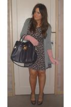 gray Topshop shoes - pink Oasis gloves