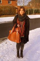 black Zara jacket - orange Topshop sweater - gray Topshop scarf - orange TKmaxx