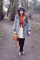 tawny Primark shoes - off white Primark dress - gray River Island hat - tawny To