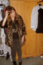 Topshop top - River Island coat