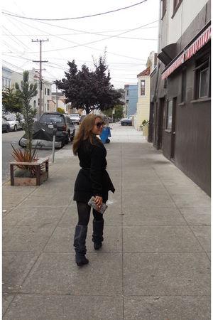 Forever 21 wallet - vintage boots - banana republic sweater - vintage blouse - v