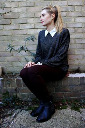 shirt - boots - jeans - vintage jumper