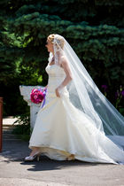 white Mon Cheri Bridals dress