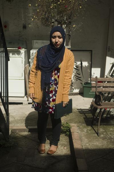 korean vintage sweater - Miss Selfridges dress - vintage accessories - random br