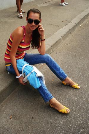 white meli melo bracelet - blue jeans Kapa jeans