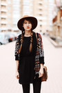 Black-biker-bershka-boots-black-embroidered-pull-bear-dress
