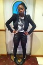 Office-boots-studded-leather-ebay-jacket-h-m-shorts-cotton-next-t-shirt