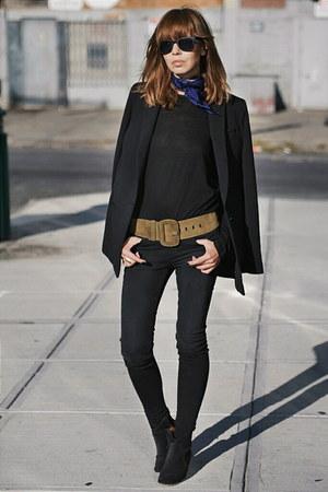 black J Brand jeans - black banana republic blazer