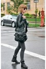 Black-leather-isabel-marant-boots-charcoal-gray-skinny-james-jeans