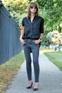Dark-gray-skinny-james-jeans-black-oversized-madewell-shirt