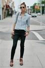 Black-skinny-jeans-sky-blue-madewell-shirt