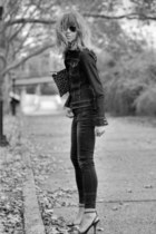 black Zara jeans - dark gray Zara heels