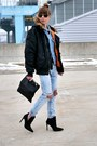 Blue-zara-jeans-black-alpha-jacket-black-clare-vivier-bag-black-zara-heels