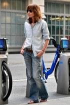 blue Zara jeans - light blue madewell shirt