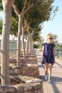 White-bershka-shoes-blue-wool-zara-dress-teal-valentino-sunglasses