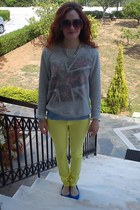 Tally Weijl jeans - Zara blouse - H&M flats - Accessorize necklace