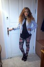 Light-blue-zara-jacket-bubble-gum-blanco-leggings-black-h-m-shirt