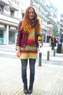 Violet-tally-weijl-boots-blue-diesel-jeans-ruby-red-bershka-jacket