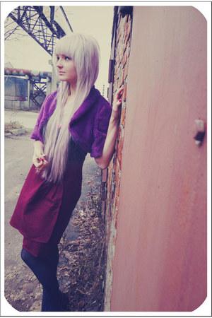 maroon felt vintage skirt
