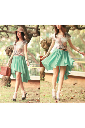 gauzy to silky high low skirt skirt