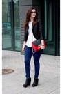 Mohito-bag-cubus-jacket-d-g-glasses-zara-blouse-stradivarius-pants