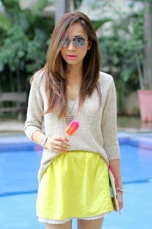 Zara sweater - Delaostia skirt - Aldo flats