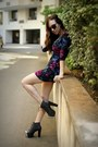 Floral-print-complot-dress-animal-print-mango-sunglasses