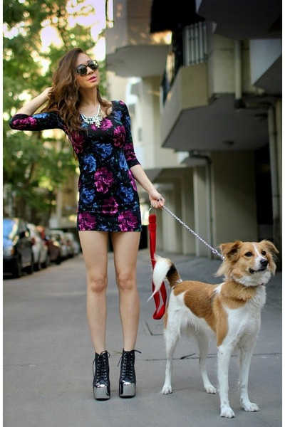 floral print Complot dress - animal print Mango sunglasses