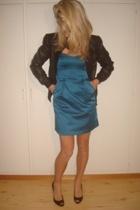 dress - jacket - shoes - purse