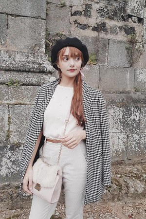 Stradivarius coat - H&M hat - Zara shirt - Stradivarius bag