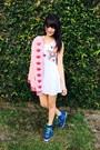 White-lycra-hada-de-sol-dress-pink-lino-hada-de-sol-jacket