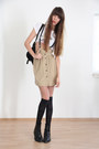 Black-buffalo-boots-camel-zara-skirt
