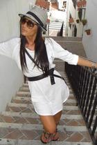 Zara dress - Uterqe sunglasses - Shoes Piel shoes - H&M Kids hat - H&M purse