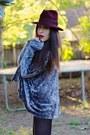 Silver-crushed-velvet-vintage-coat-black-suede-platform-go-jane-boots