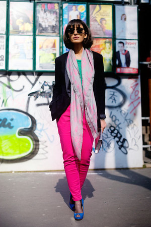 pink  Alexander McQueen scarf