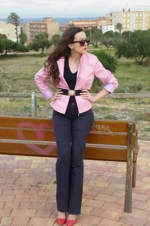 Caramelo jacket - Mango sunglasses - calvin klein top - Zara heels