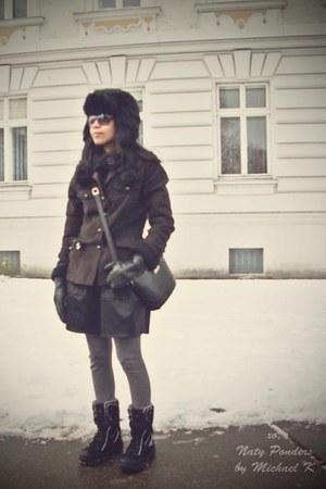 61 wool H&M jacket - boots - season sale H&M hat - gloves
