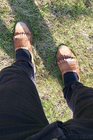 brown Topman shoes - black Zara jeans