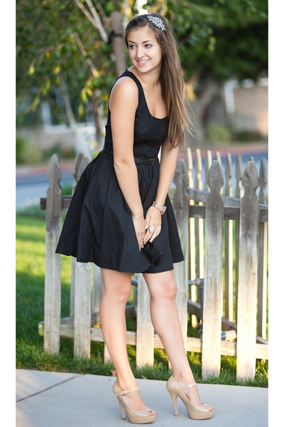 "Nude Forever 21 Heels, Black Lauren Conrad Dresses | ""Rush"" by ..."