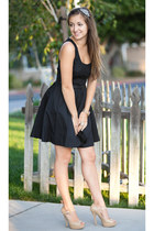 nude Forever 21 heels - black Lauren Conrad dress