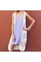 periwinkle nectar clothing dress - white nectar clothing vest
