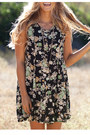 Taupe-suede-tie-nectar-clothing-boots-floral-nectar-clothing-dress