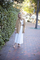 trench coat nectar clothing coat - maxi striped nectar clothing skirt