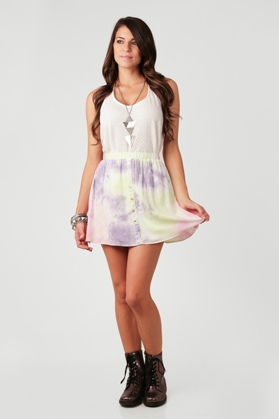 tie dye neon nectar clothing skirt - nectar clothing boots
