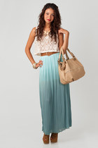 Latisse skirt - nectar clothing purse - lace up cut out Bamboo wedges
