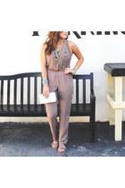 aquamarine nectar clothing purse - light brown nectar clothing jumper