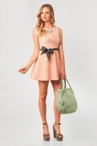black nectar clothing scarf - light pink latiste dress