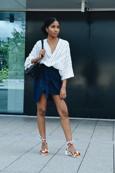 romwe sandals - Romwecom skirt - Choies top